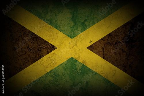 Fototapeta JAMAICAN FLAG ON HEART