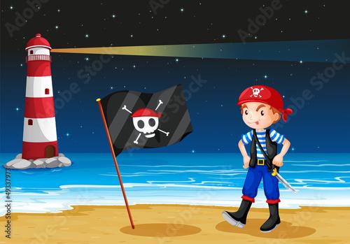 Photo Stands Pirates A pirate and the sea parola