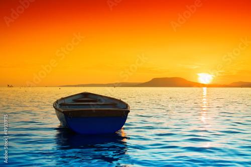 Foto-Kissen - Sunset lake (von Kavita)