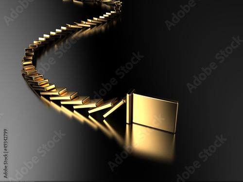 Photo Golden domino
