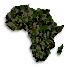 Map Of Africa Filled With Camo...