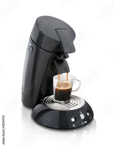 Fotografie, Obraz  Black electric coffee maker