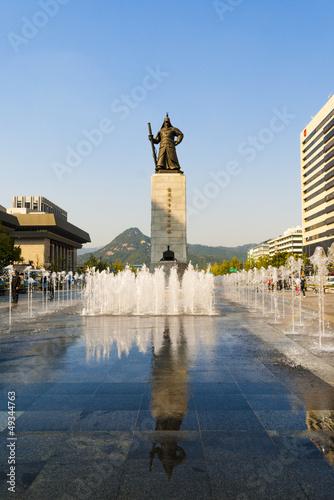 Statue of Yi Sun-shin. Gwanghwamun Square