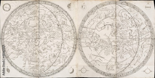 Vintage stellar map Fotobehang