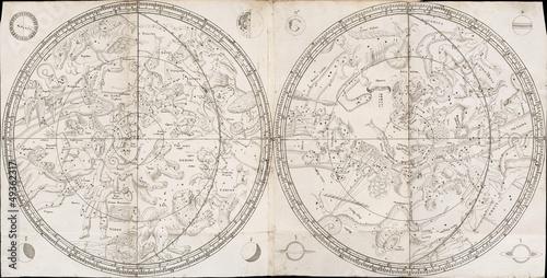 Fototapeta Vintage stellar map