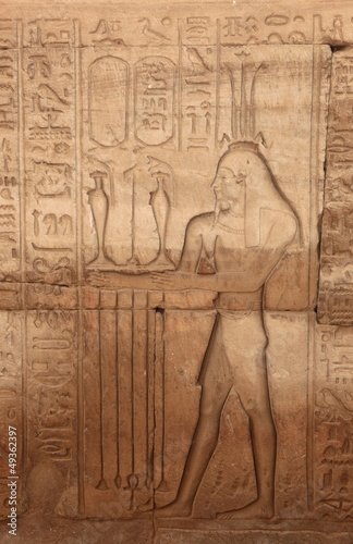 Fotografie, Obraz  mur de hiéroglyphes