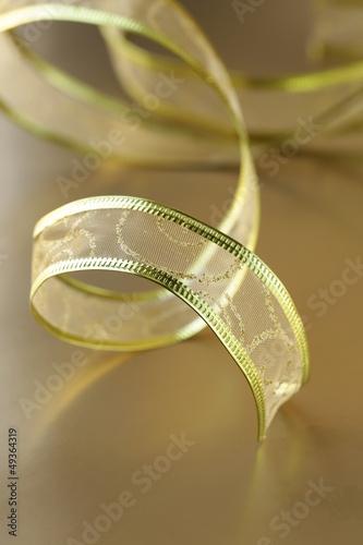 Fototapety, obrazy: ribbon gold  for holiday background