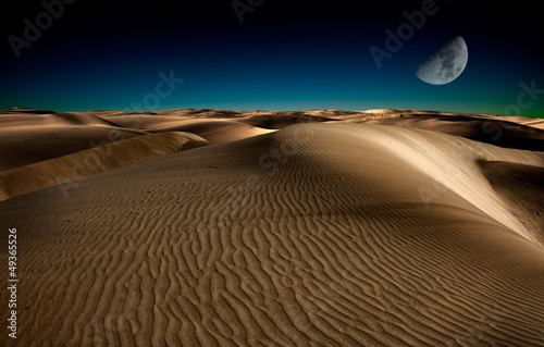 Photo  Night in desert