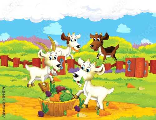 Wall Murals Ranch The life on the farm - illustration for the children