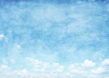 Blue Sky Grunge Background.
