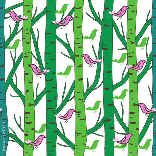 Garden Poster Birds in the forest Forest