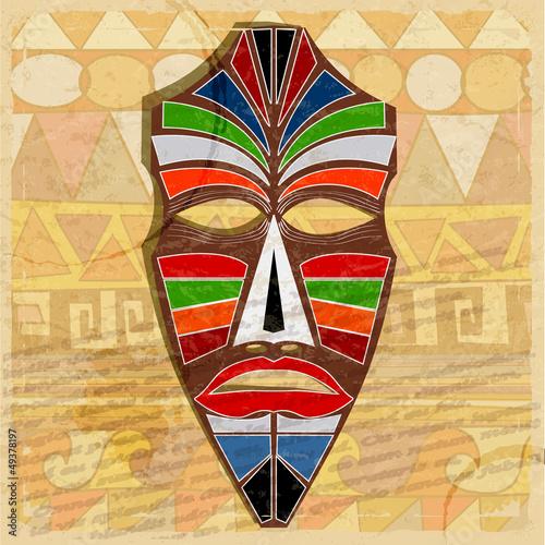 etniczna-maska-na-rocznika-tle