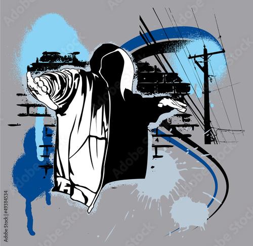 Fotografie, Obraz  Hip Hop urban