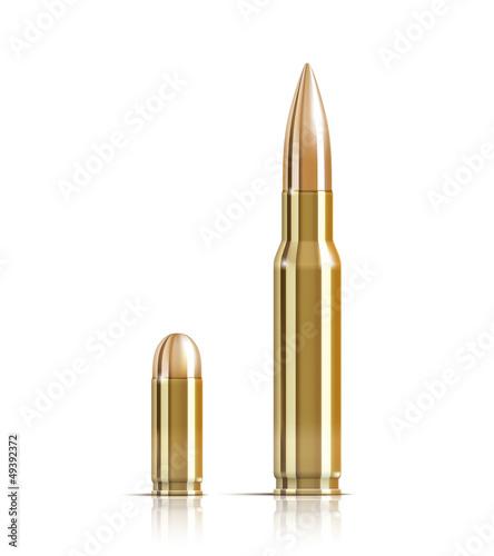 Carta da parati Ammunition bullets on white