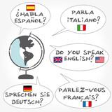 Fremdsprachen Sprechblasen, Weiterbildung, Globus