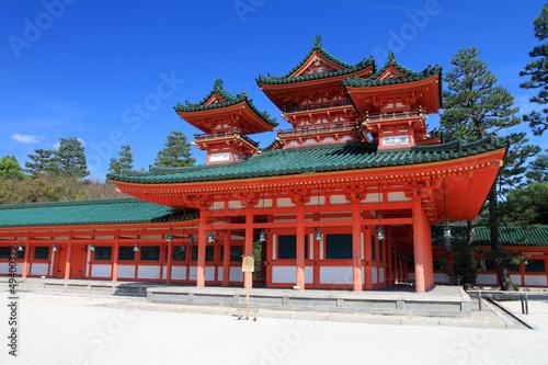 Papiers peints Kyoto Heian Shrine, Kyoto, Japan..