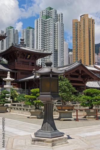 Chi lin Nunnery, Tang dynasty style Chinese temple, Hong Kong Poster