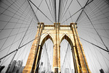Fototapeta Przestrzenne - The Brooklyn bridge, New York City. USA.