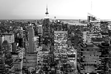 Obraz na Szkle Optyczne powiększenie Manhattan, New York City. USA.