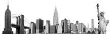 New York City Landmarks, USA. ...