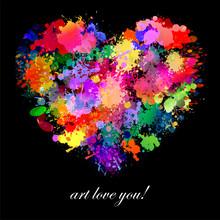 Colorful Paint Splash Art Illu...