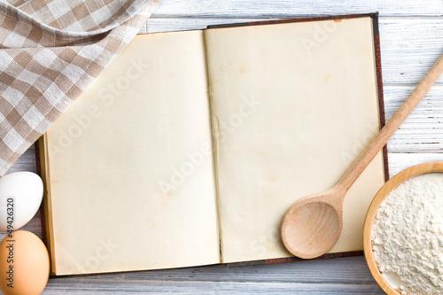 Fotografia blank recipe book