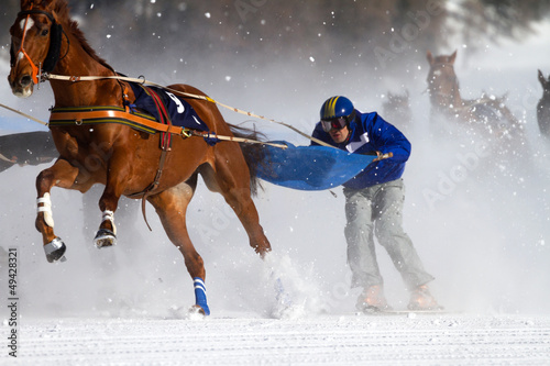 La pose en embrasure Equitation horse race