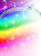 虹 シャボン玉 背景