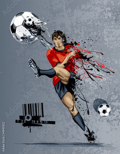 Abstract image of soccer player - 49431122