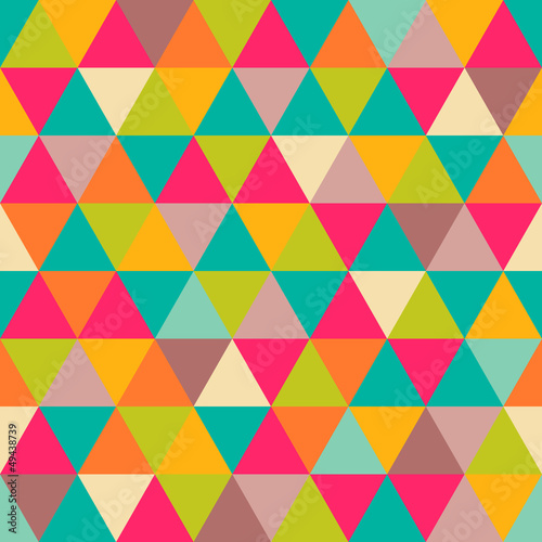 Keuken foto achterwand ZigZag Abstract geometric triangle seamless pattern