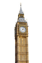 Big Ben Isolated On White Back...