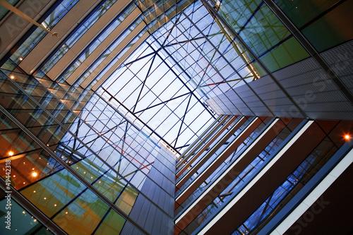 Canvastavla Atrium of modern building
