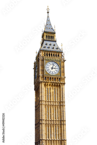 Keuken foto achterwand Londen Big Ben Isolated on White background