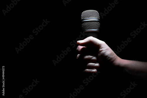 Photo Hand and microphone