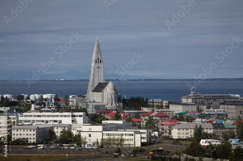 Foto op Aluminium Arctica main church in reykjavik city