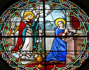 Naklejka Glass window in church