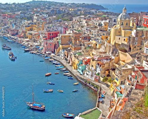 Garden Poster Napels Insel Procida, Golf von Neapel