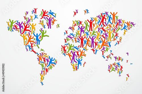 Fototapeta mapa ludzka-koncepcja-mapy-swiata