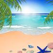 Vector Illustration of an Azure Ocean