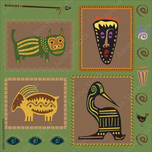 zestaw-elementow-afrykanskich