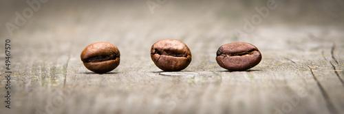 Fototapeta Trzy ziarna kawy