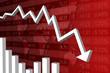 Récession Économique Rouge