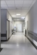 Hospital corridor with chairs
