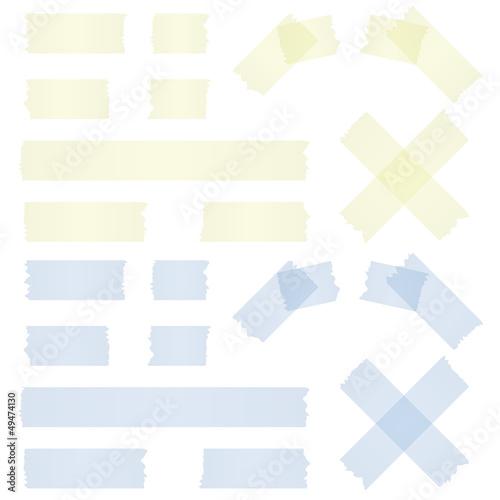 Photo Klebebstreifen gelb und blau