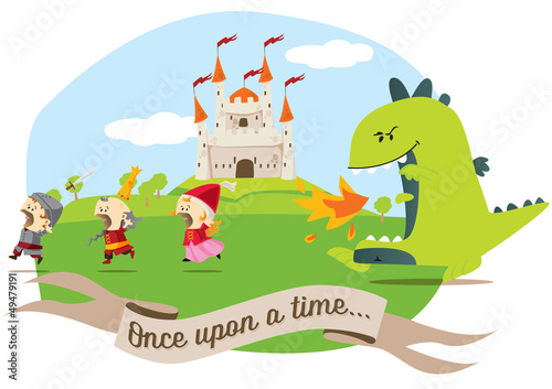Poster Castle once upon a time