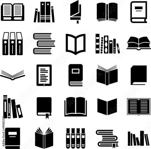 Fotografie, Obraz  Books icons