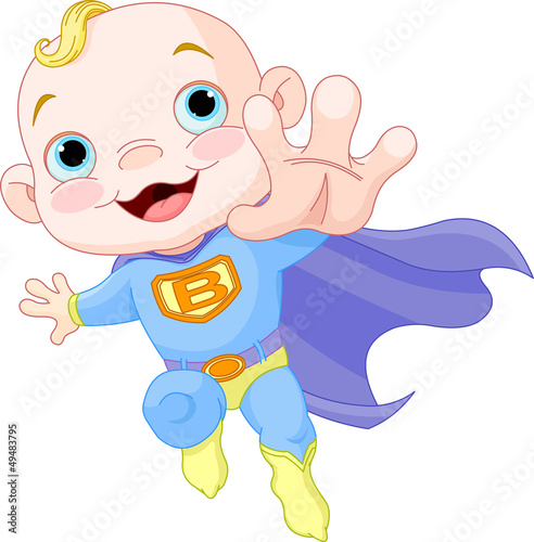 Poster Superheroes Super Baby Boy