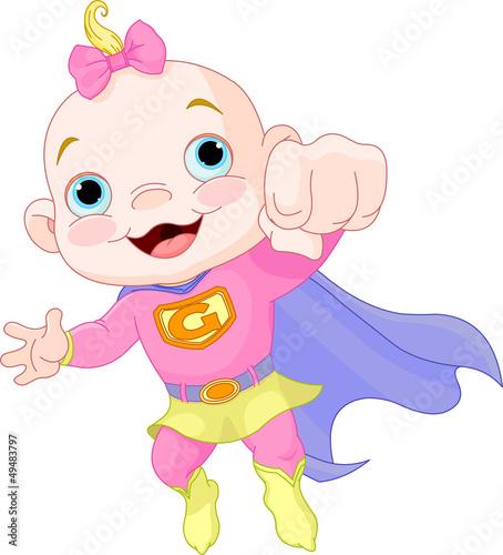 Foto-Stoff - Super Baby Girl (von Anna Velichkovsky)