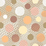 halftone dots seamless background
