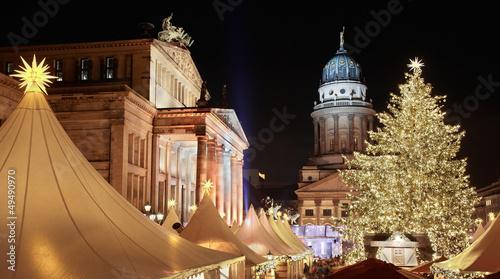 Keuken foto achterwand Berlijn Christmas market in Gendarmenmarkt, Berlin